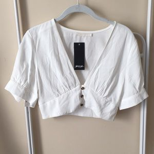 NWT Nasty Gal Cropped Blouse